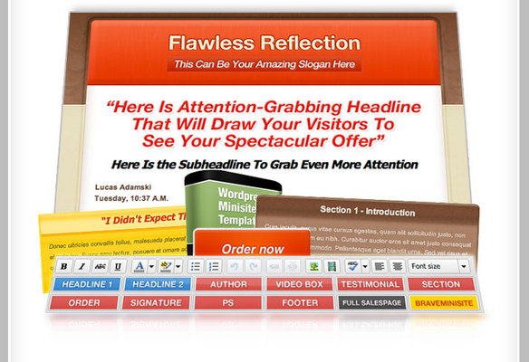 Product picture Flawless Reflection Minisite Pack (PLR)