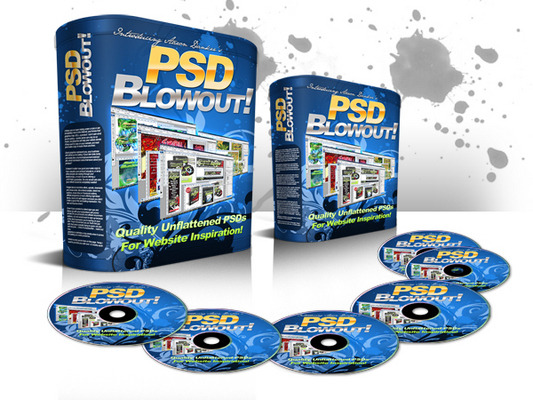 Product picture PSD Blowout - UNFLATTENED PSDs to 27 websites
