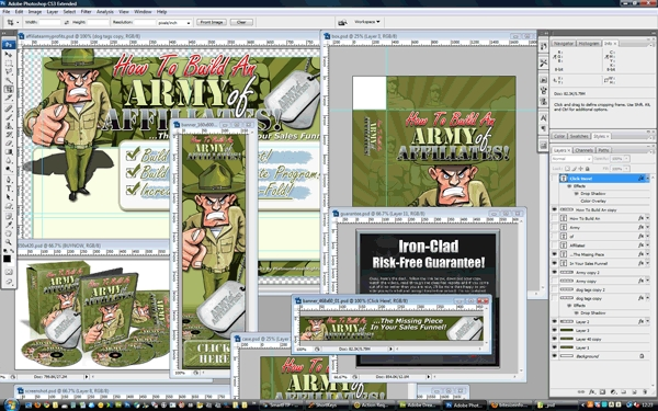 Product picture Affiliate Army Profits PSD Graphics Pack
